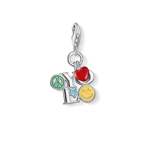 Thomas Sabo Silver with Multi-Coloured Enamel YOLO Charm - 1238-007-7