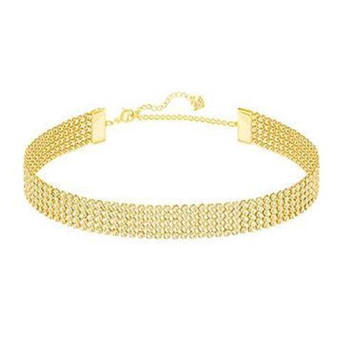 SWAROVSKI FIT Yellow Gold Choker Crystal Necklace - 5364809