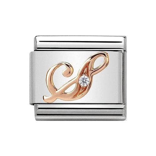 Nomination Rose Gold S Letter Charm Link  - 430310/19