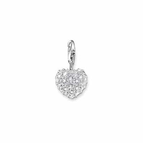 Thomas Sabo Silver CZ Heart Charm - 0019-051-14
