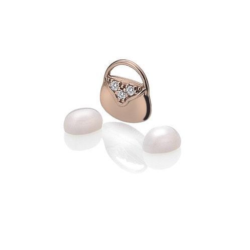 Anais by Hot Diamonds Sterling Silver Rose Gold Handbag Charm - AC119