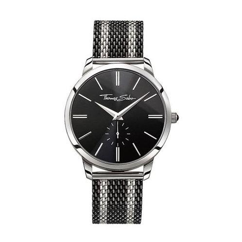 Thomas Sabo Men's Rebel Spirit Black Mesh Strap Watch - WA0267