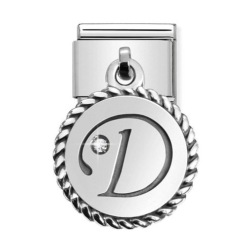 Nomination Silvershine Letter D Dangle Charm Link - 331809/04
