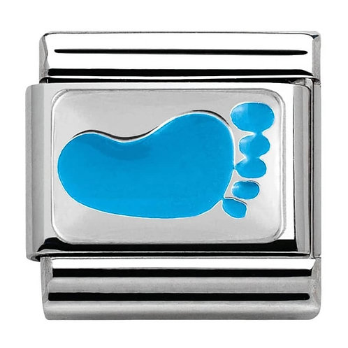 Nomination Silvershine CiaoLapo Charity Blue Foot Charm Link - 330281/11