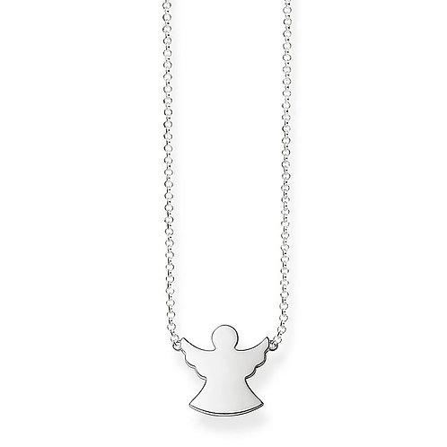 Thomas Sabo Sterling Silver Guardian Angel Necklace - KE1397-001-12-45v
