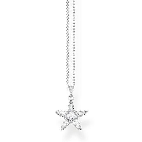 Thomas Sabo Sterling Silver Star Necklace - KE1899-051-14