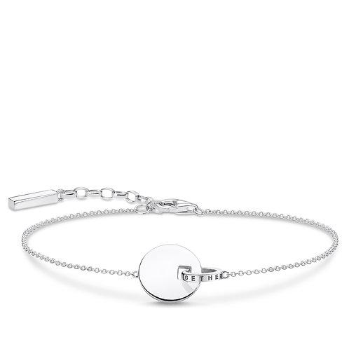 Thomas Sabo Sterling Silver Together Forever Bracelet -A1934-637-21
