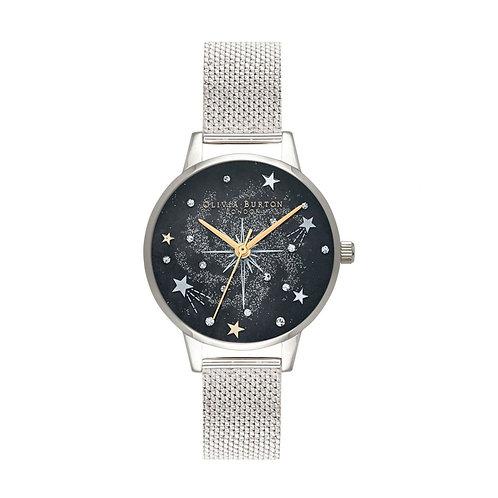 Olivia Burton Celestial Midi Dial Mesh Strap Watch - OB16GD85
