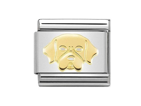 Nomination Gold Golden Retriever Charm Link - 030162/56