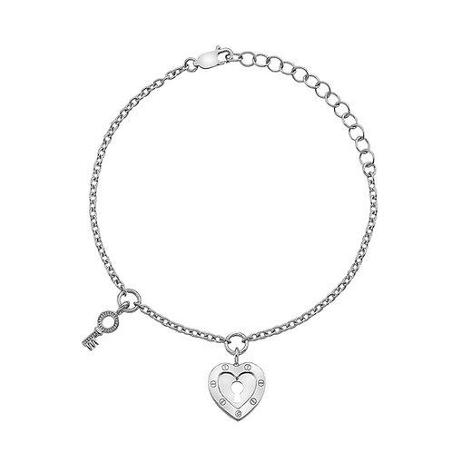 Hot Diamonds Sterling Silver Lock in Love Bracelet