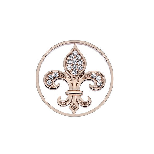 Emozioni by Hot Diamonds Fleur De Lis Rose Gold Coin - EC329