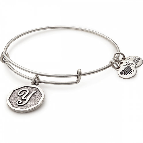 Alex and Ani Rafaelian Silver Initial Y Charm Bangle - A13EB14YS