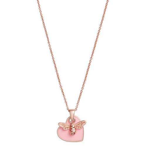 Olivia Burton You have My Heart Pink and Rose Gold Necklace OBJLHN16