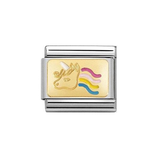 Nomination Gold Unicorn Charm Link - 030284/28