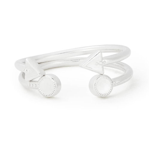 Alex and Ani Rafaelian Silver Circle and Triangle Rings - PC17RSTS