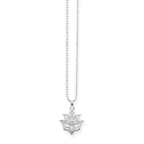 Thomas Sabo Sterling Silver Lotus Ornamentation Necklace - D_KE0016-725-21-L45v