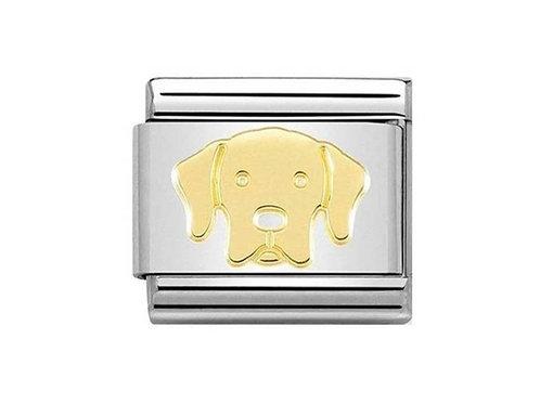 Nomination Gold Labrador Dog Charm Link - 030162/57