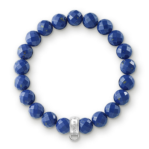 Thomas Sabo Synthetic Lapis Lazuli Bead Charm Bracelet - X0207-771-32-L