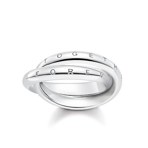Thomas Sabo Silver Entwined Together Forever Ring - TR2129-001-21-50