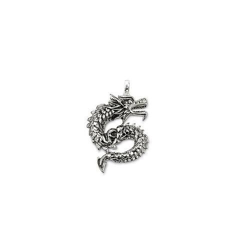 Thomas Sabo Oxidized Silver Dragon Pendant - PE509-001-12
