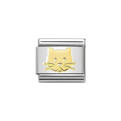Nomination Gold Classic Cat Face Charm Link - 030162/53