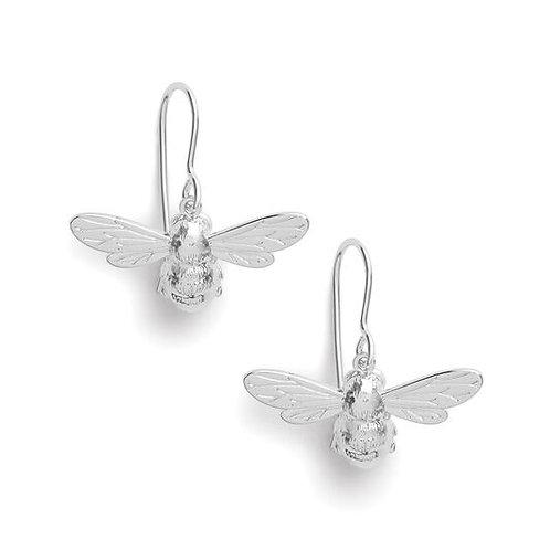 Olivia Burton Lucky Bee Silver Hook Dangle Earrings OBJAME171N