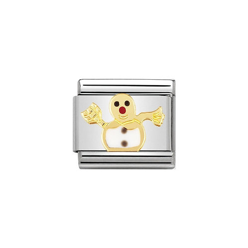 Nomination Gold Classic Snowman Charm Link - 030225/04