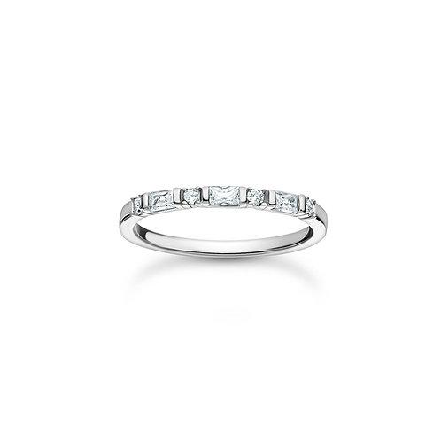 Thomas Sabo CZ Baguette Silver ring - TR2348-051-14