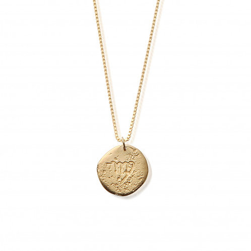 ChloBo Gold Plated Sterling Silver Virgo Starsign Necklace