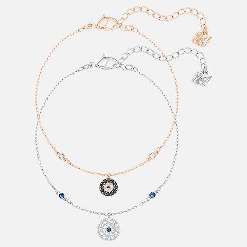 SWAROVSKI Crystal Wishes Rose Gold and Silver Tone Bracelet Set - 5272256