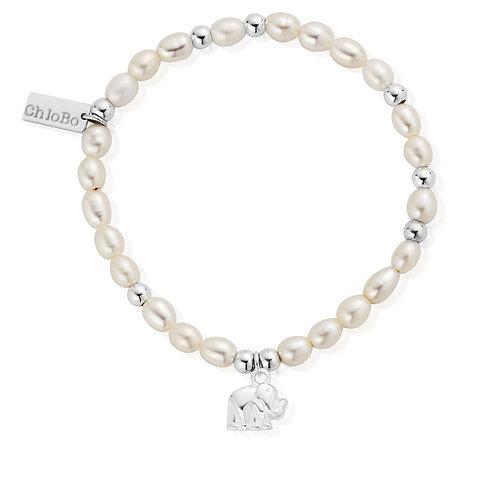 ChloBo Pearl Elephant Mini Bracelet