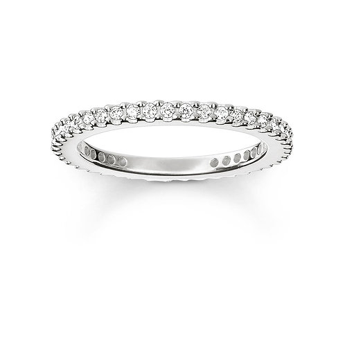 Thomas Sabo Silver Thin CZ Eternity Ring - TR1980-051-14-54