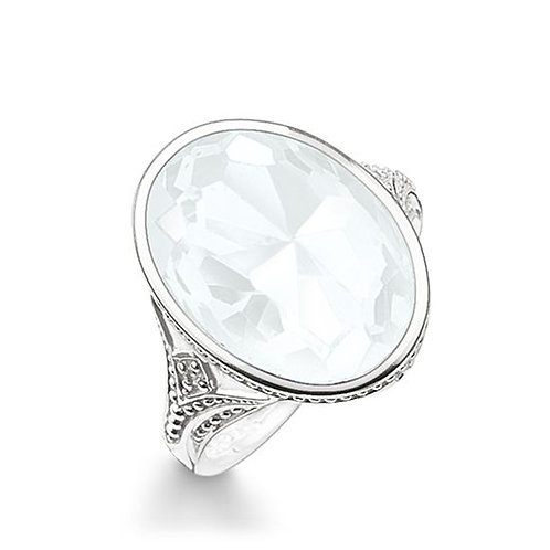 Thomas Sabo Silver Milky Quartz Cocktail Ring - TR2040-690-14-54