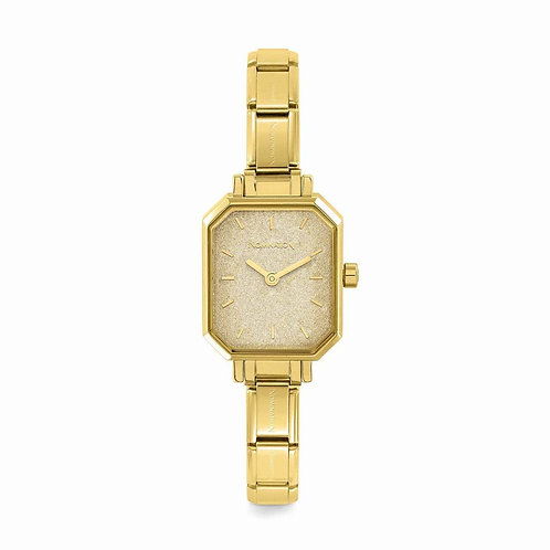 Nomination Composable Yellow Gold Glitter Dial Watch - 076032/0265