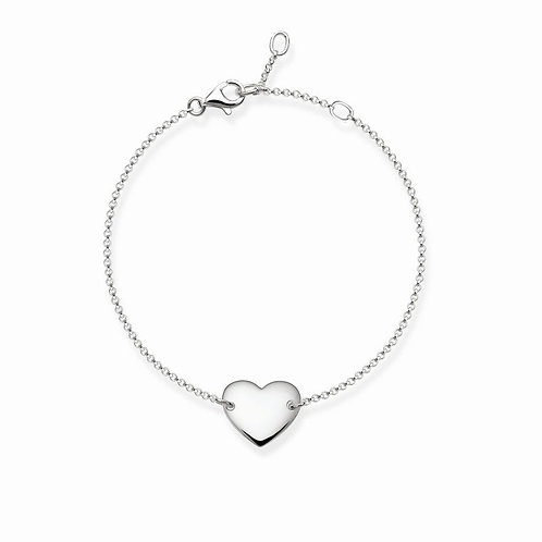 Thomas Sabo Heart Sterling Silver Bracelet - A1392-001-12-L19v