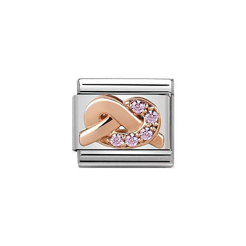 Nomination Rose Gold Mother and Daughter Pink CZ Charm Link - 430302/07