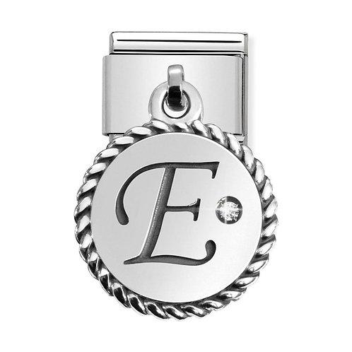 Nomination Silvershine Letter E Dangle Charm Link - 331809/05