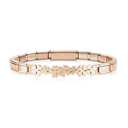 Nomination Trendsetter Lucky Clover Symbol Rose Gold Bracelet 021111/008