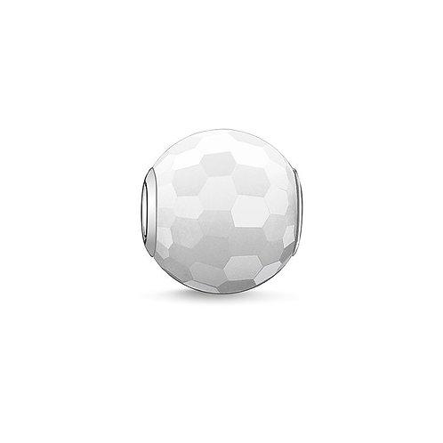 Thomas Sabo Karma White Faceted Jade Bead Charm - K0007-588-14