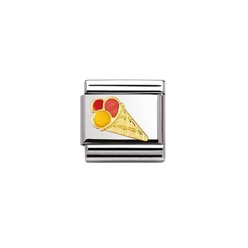 Nomination Gold Classic Ice Cream Charm Link - 030209/30