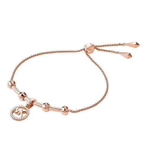 Michael Kors Rose Gold Custom Logo Bar Bracelet