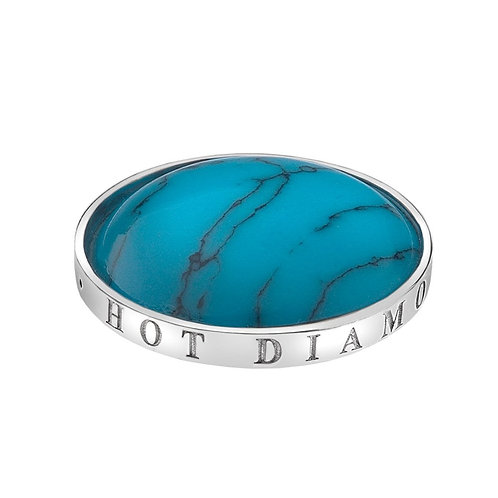 Emozioni by Hot Diamonds Turquoise Coin - EC044