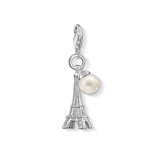 Thomas Sabo Silver Eiffel Tower with Freshwater Pearl Charm -0770-082-14