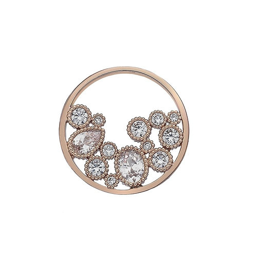 Emozioni by Hot Diamonds Spirito Libero Freedom Rose Gold CZ Coin