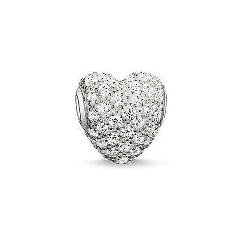 Thomas Sabo Karma Pave Heart Bead Charm - K0081-051-14