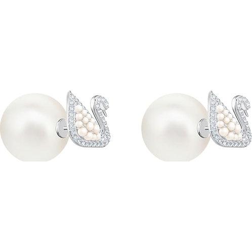 SWAROVSKI Iconic Swan Crystal Pearl Earrings - 5416591
