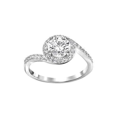SWAROVSKI Attract Light Swirl Ring Rhodium Tone Clear Crystal - 5181006