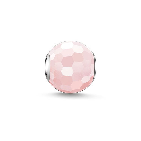 Thomas Sabo Karma Faceted Rose Quartz Stone Charm -K0005-034-9