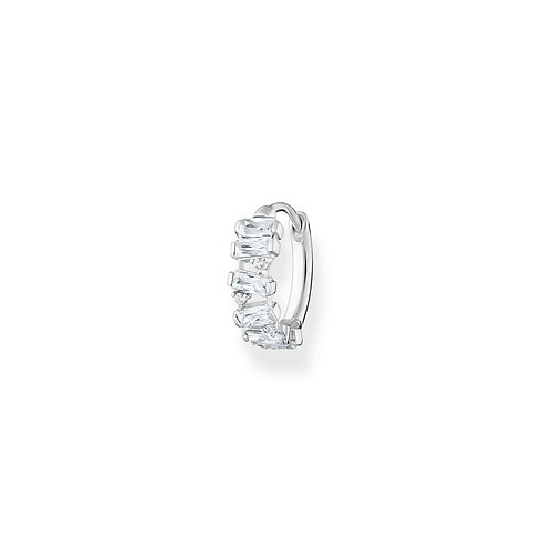 Thomas Sabo CZ Silver Hoop Single Earring - CR665-051-14