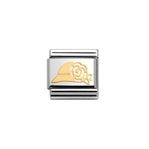 Nomination Gold Classic Madame Hat Charm Link - 030162/08